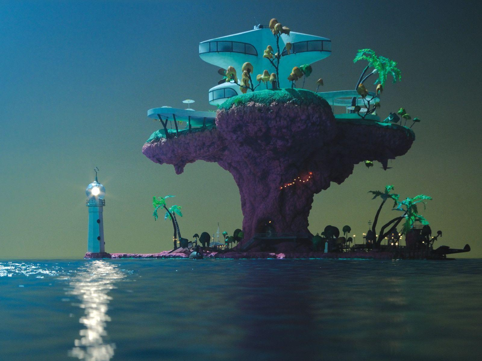 gorillaz wallpapers plastic beach - photo #4