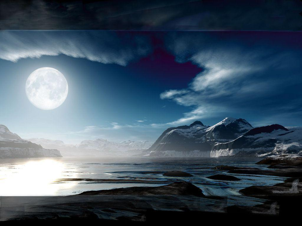 Wallpapers For > Full Moon Wallpaper Desktop