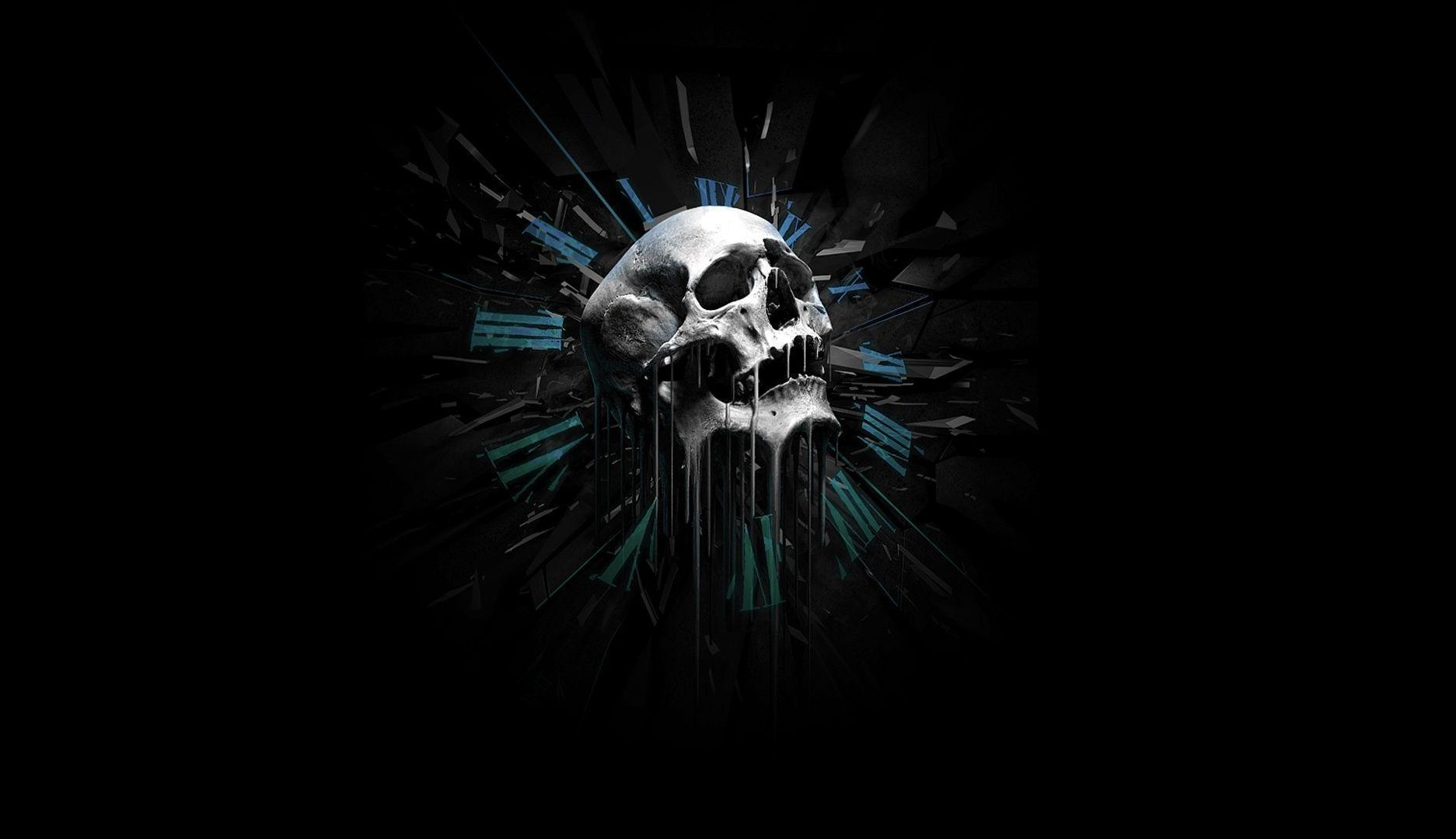 3D Skull Against Black BaAckground Free Stock Photo and Wallpaper