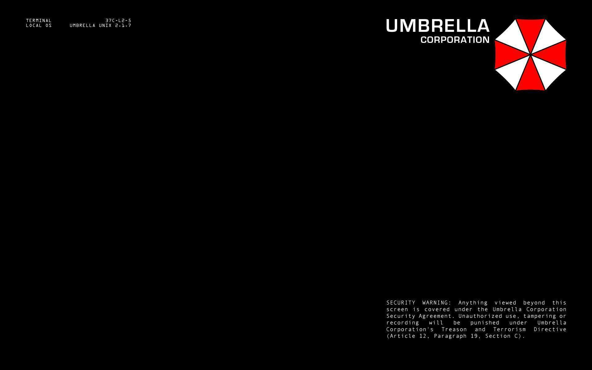 Umbrella Corporation terminal login : Desktop and mobile wallpaper ...