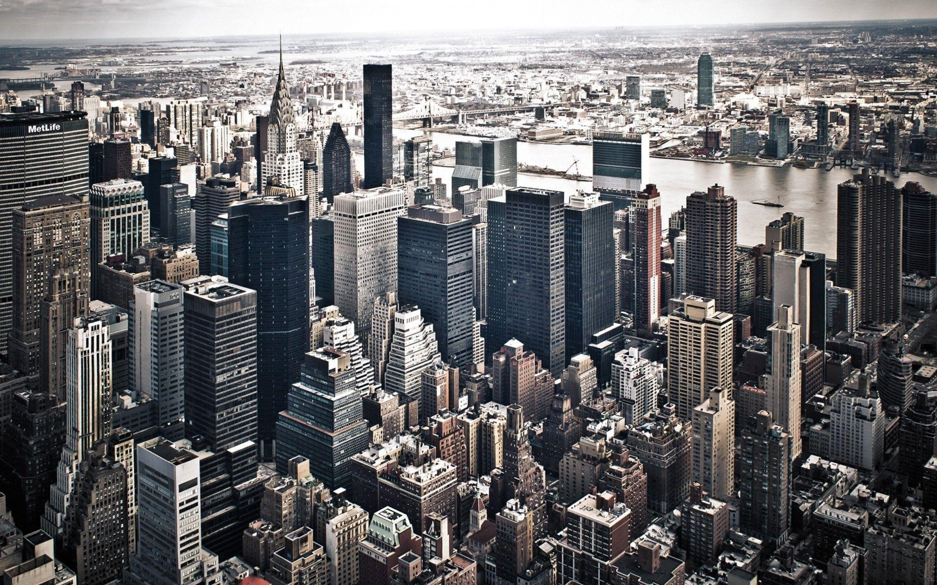 Cityscapes New York City Aerial View X Wallpapers