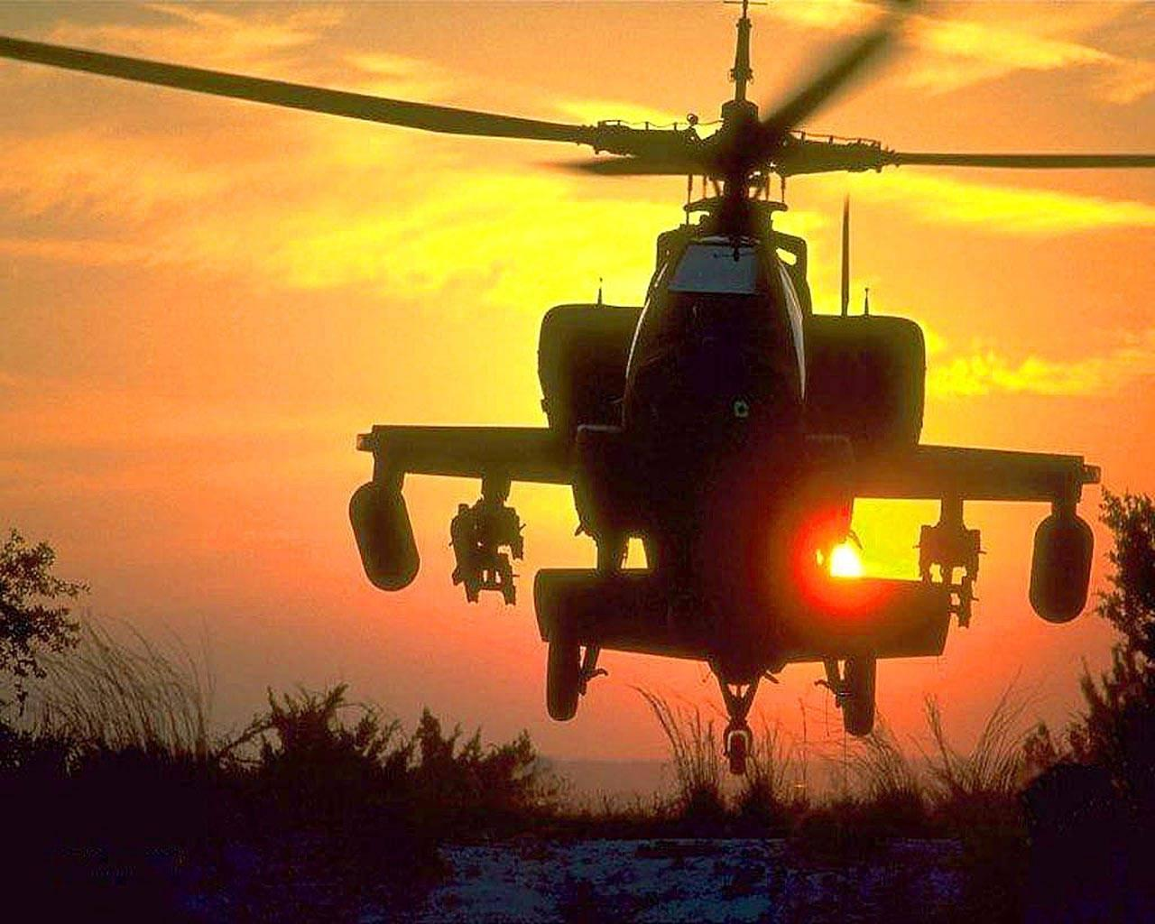 Military helicopter flying in sunset free desktop backgrounds