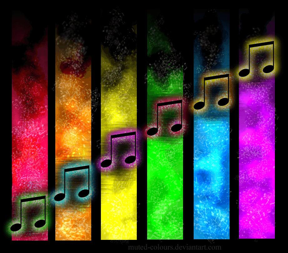 music notes note musical colorful wallpapers rainbow symbols colours symbol muted rainbows clipartpanda cool deviantart song colors zeronine blogger ears