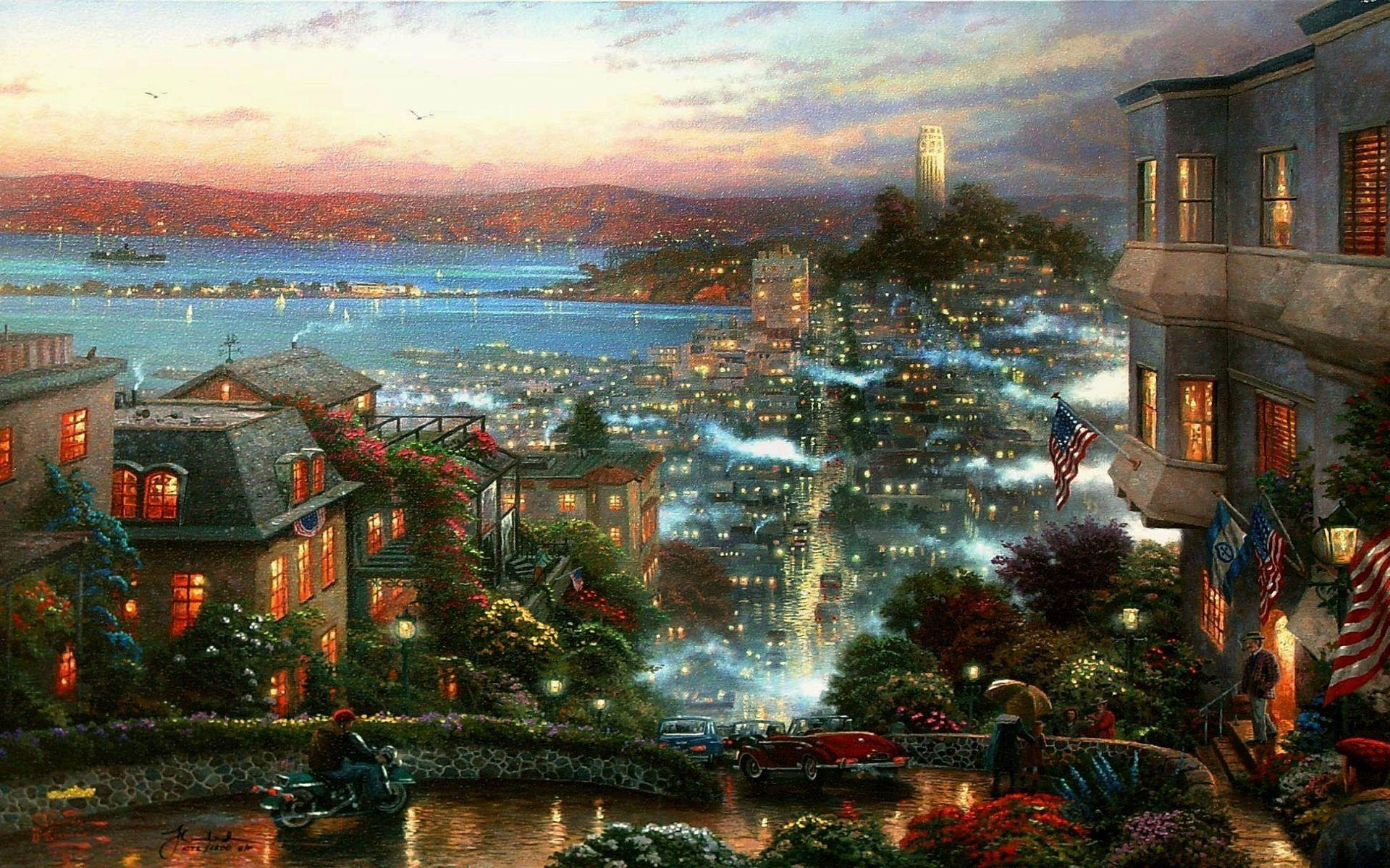 kinkade summer wallpaper drawing - photo #34