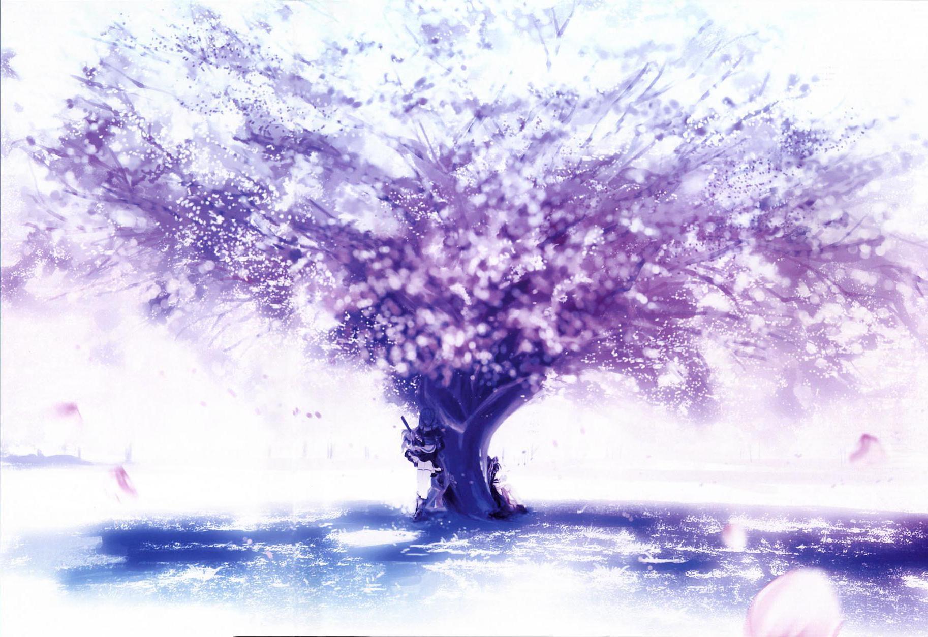 Purple Tree Wallpapers Wallpaper Cave