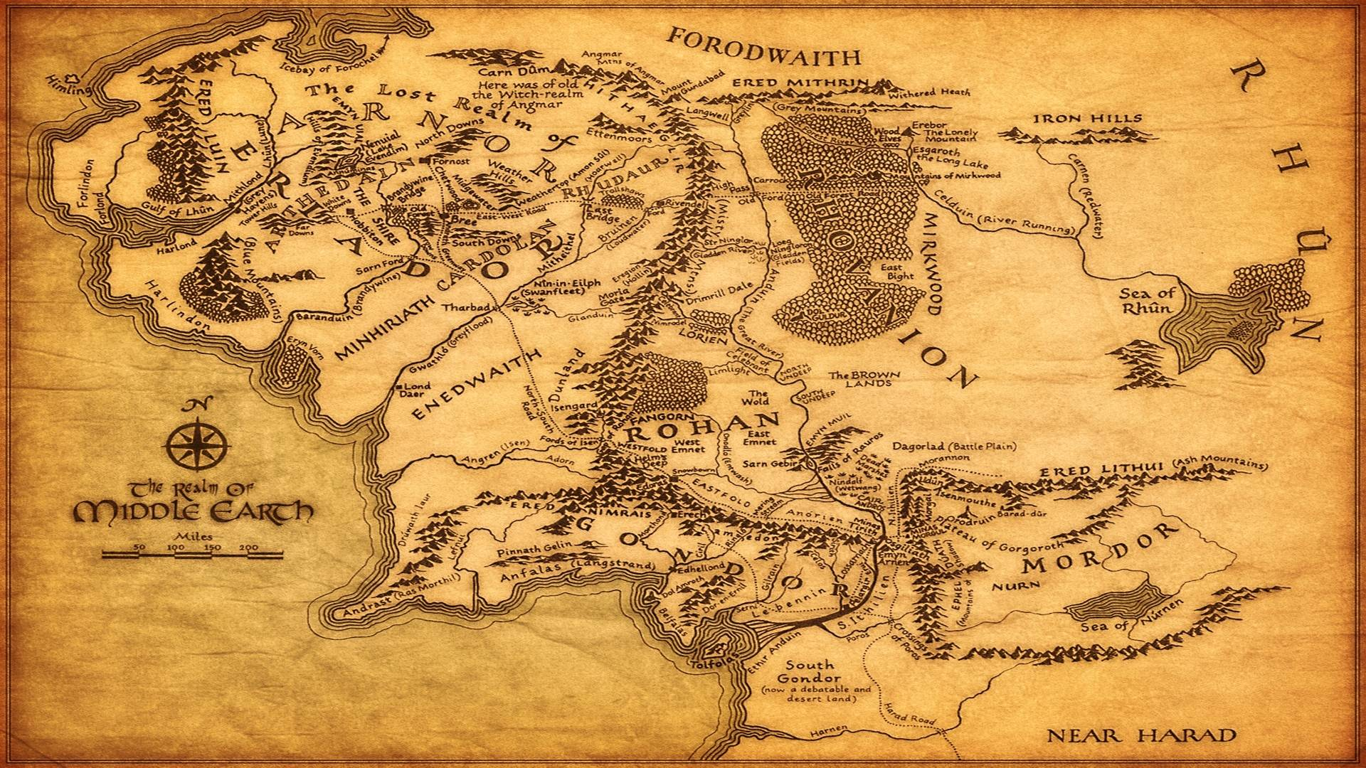 Middle Earth Map Image Hd Wallpapers 1680x1050PX ~ Wallpapers