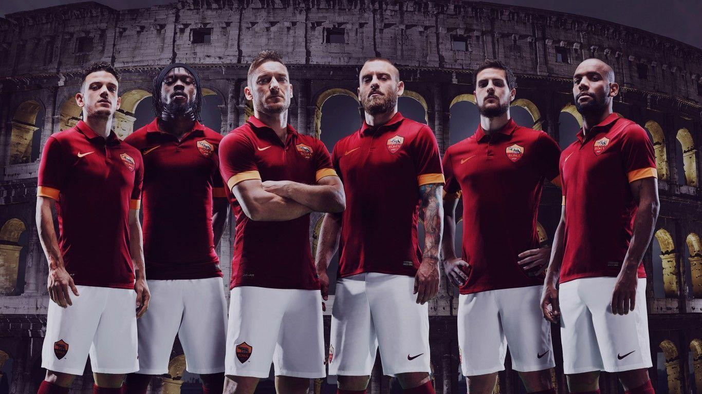 AS Roma 2014-2015 Nike Jersey Home Kit Wallpaper Wide or HD ...