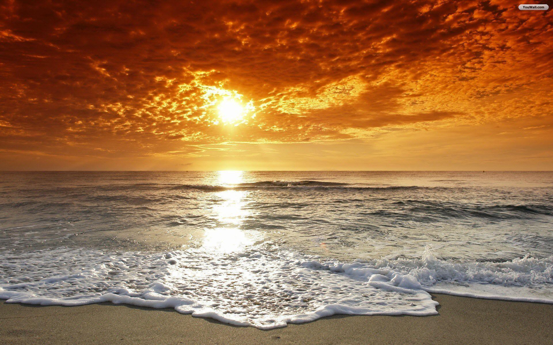 Awesome Beach Sunset Wallpaper | Wallpaper Download