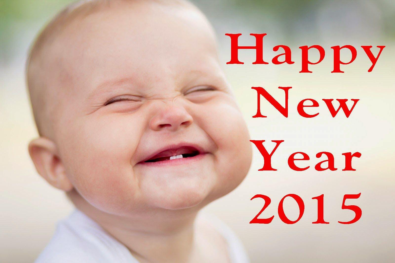 Pretty Babies Pictures say Happy New 2015