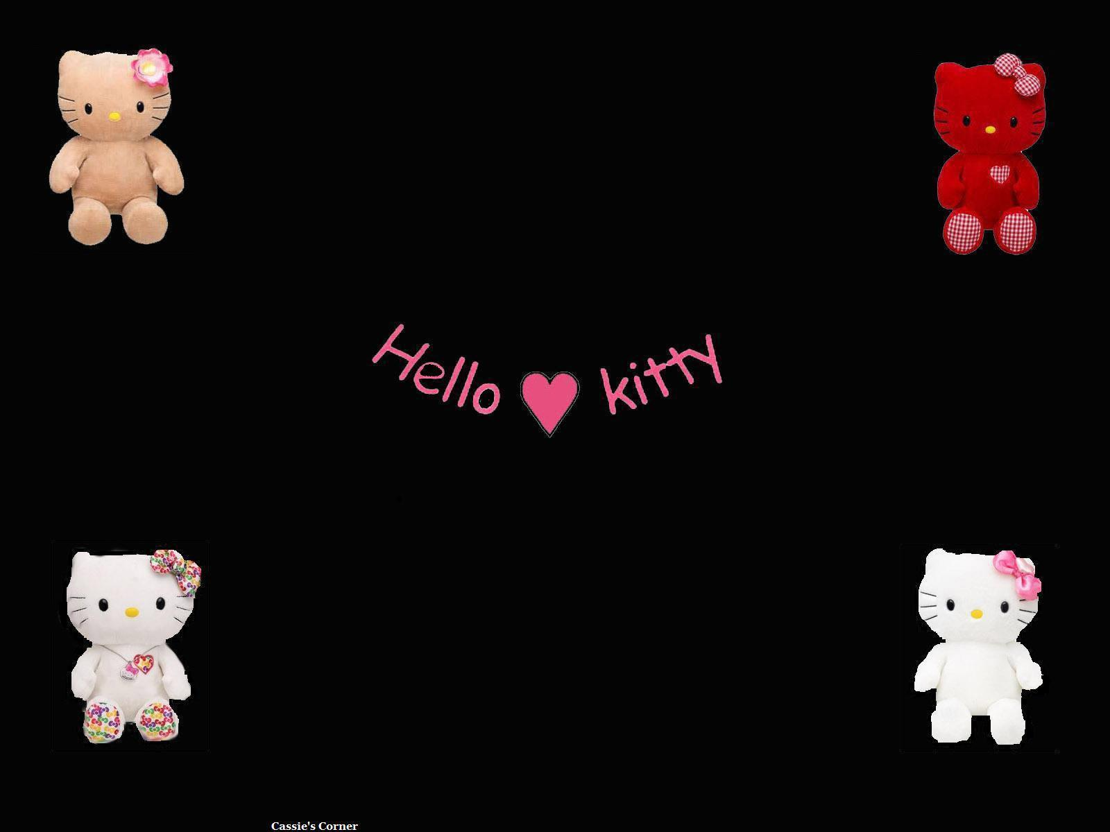 Black Hello Kitty Backgrounds - Wallpaper Cave