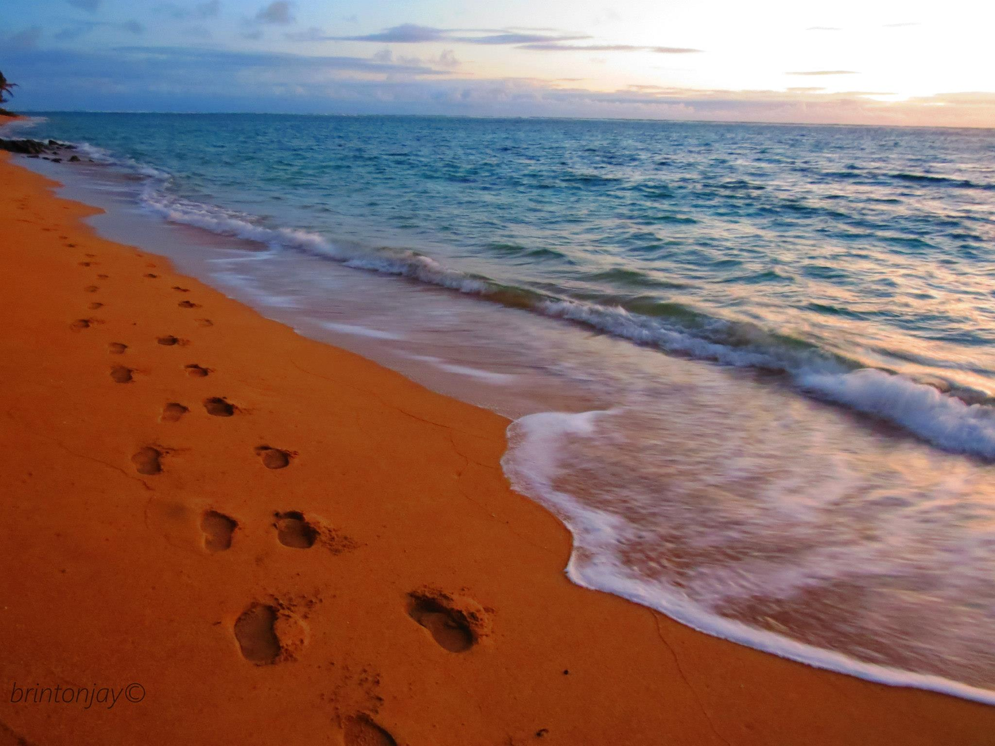 Footprints In The Sand Wallpapers Wallpaper Cave