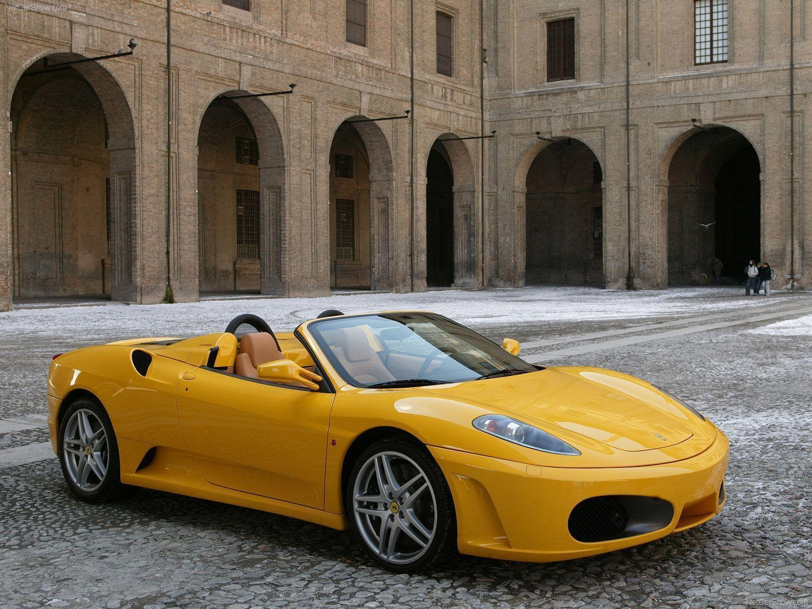 ferrari f430 spider yellow wallpapers