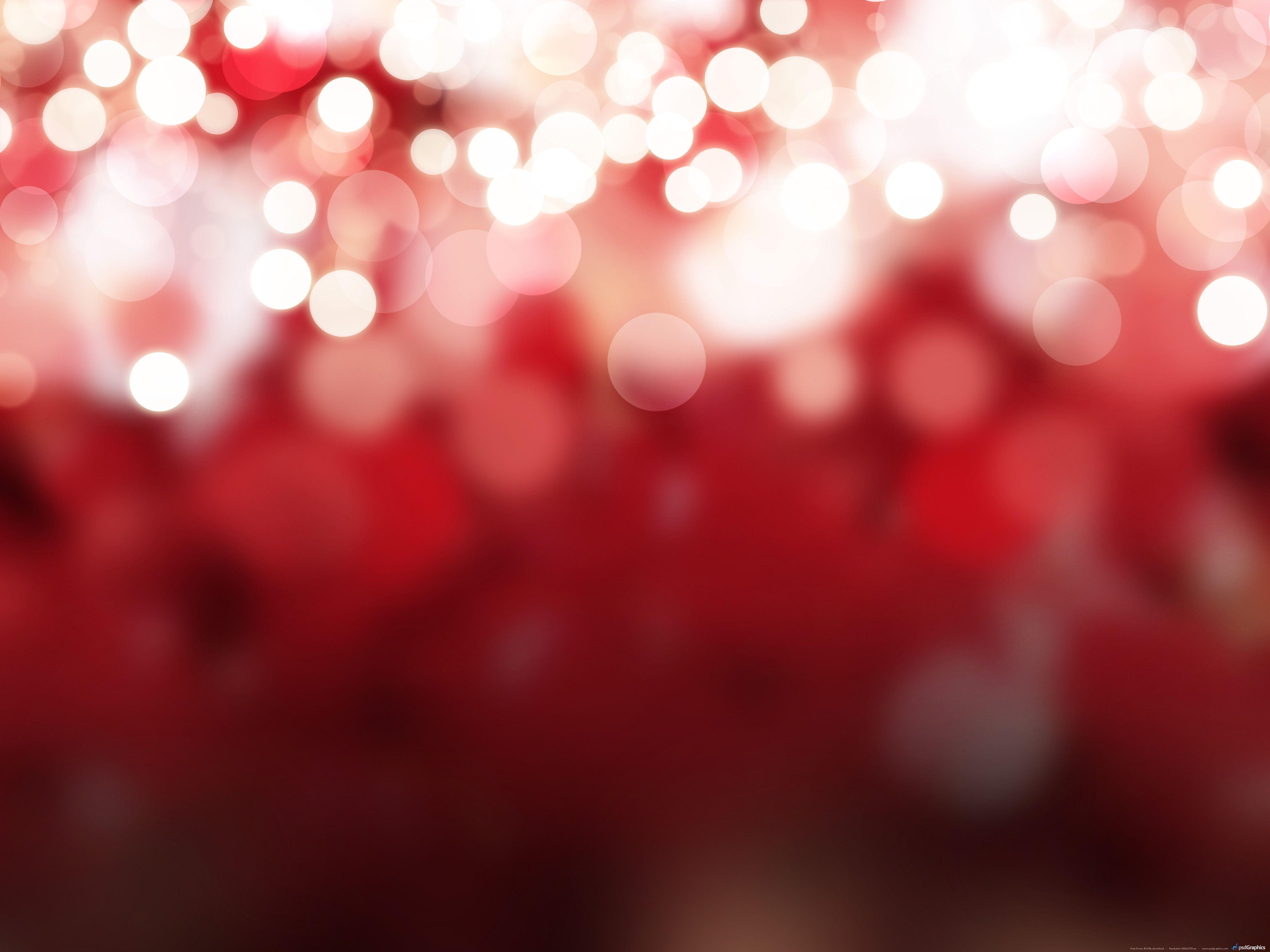 Red Christmas Lights Background