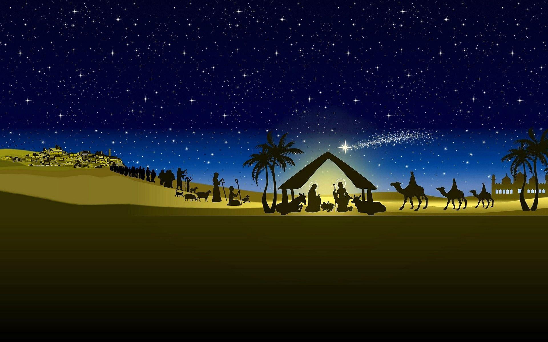 Christmas nativity wallpapers wallpaper cave for Christmas pictures for facebook wall