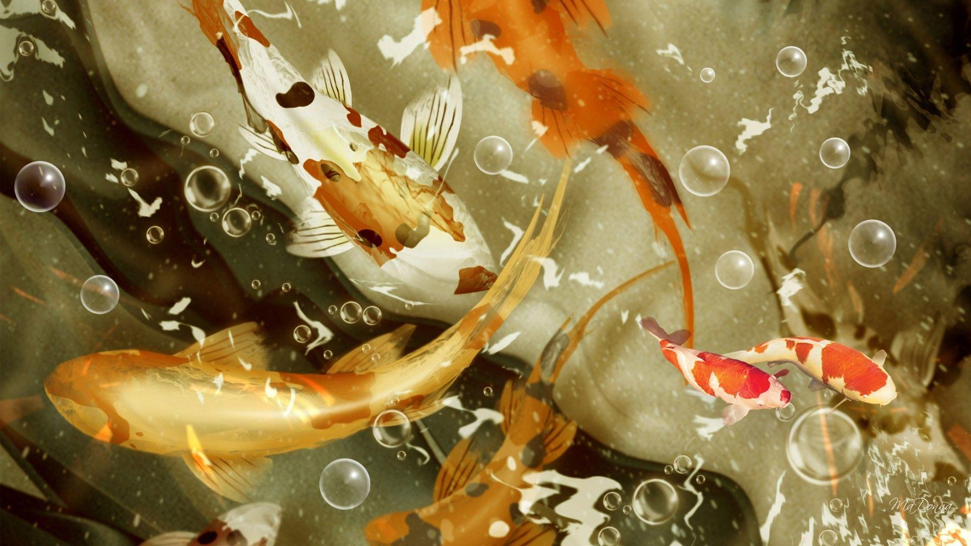 Koi fish wallpapers wallpaper cave for Koi japanese art