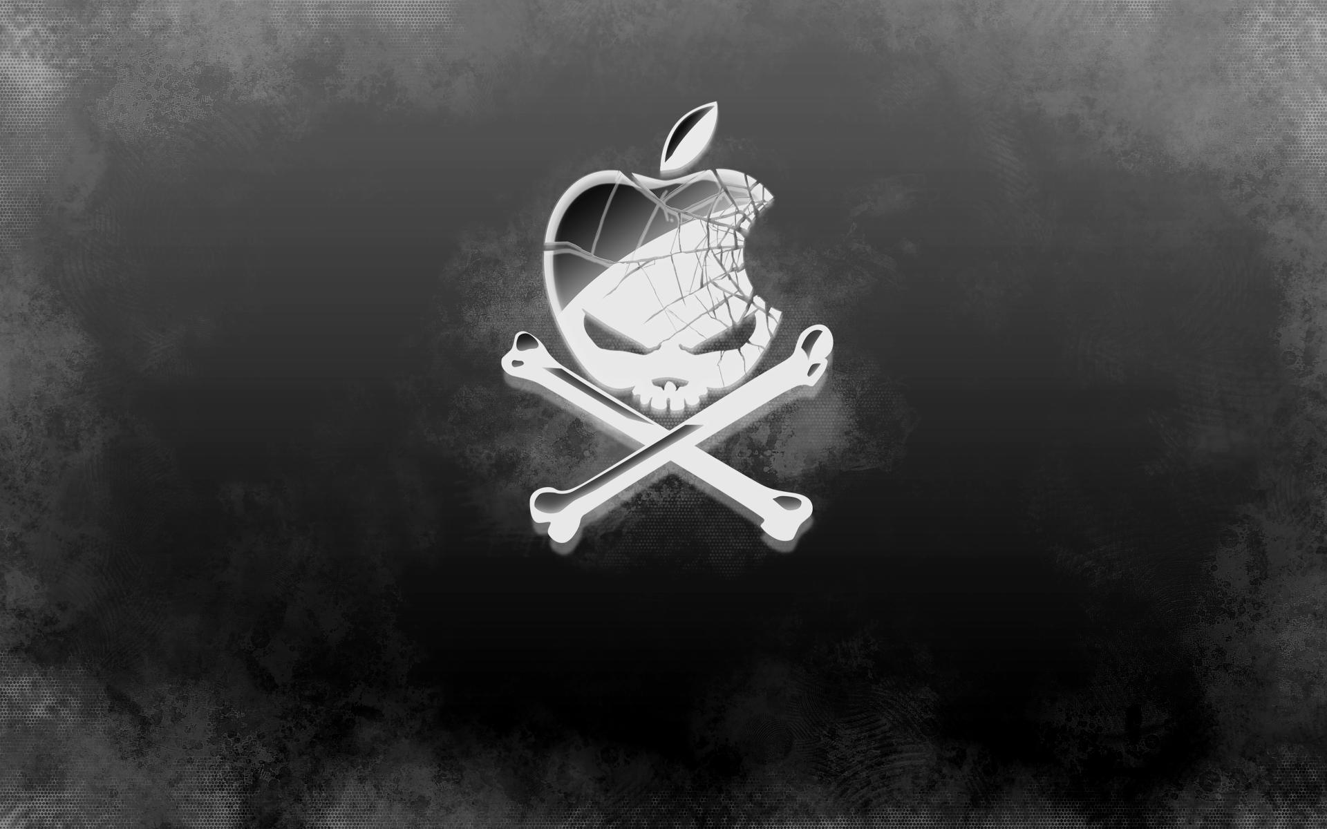 Apple Skull Logo Download Cool Silver Skull Apple Logo Wallpapers