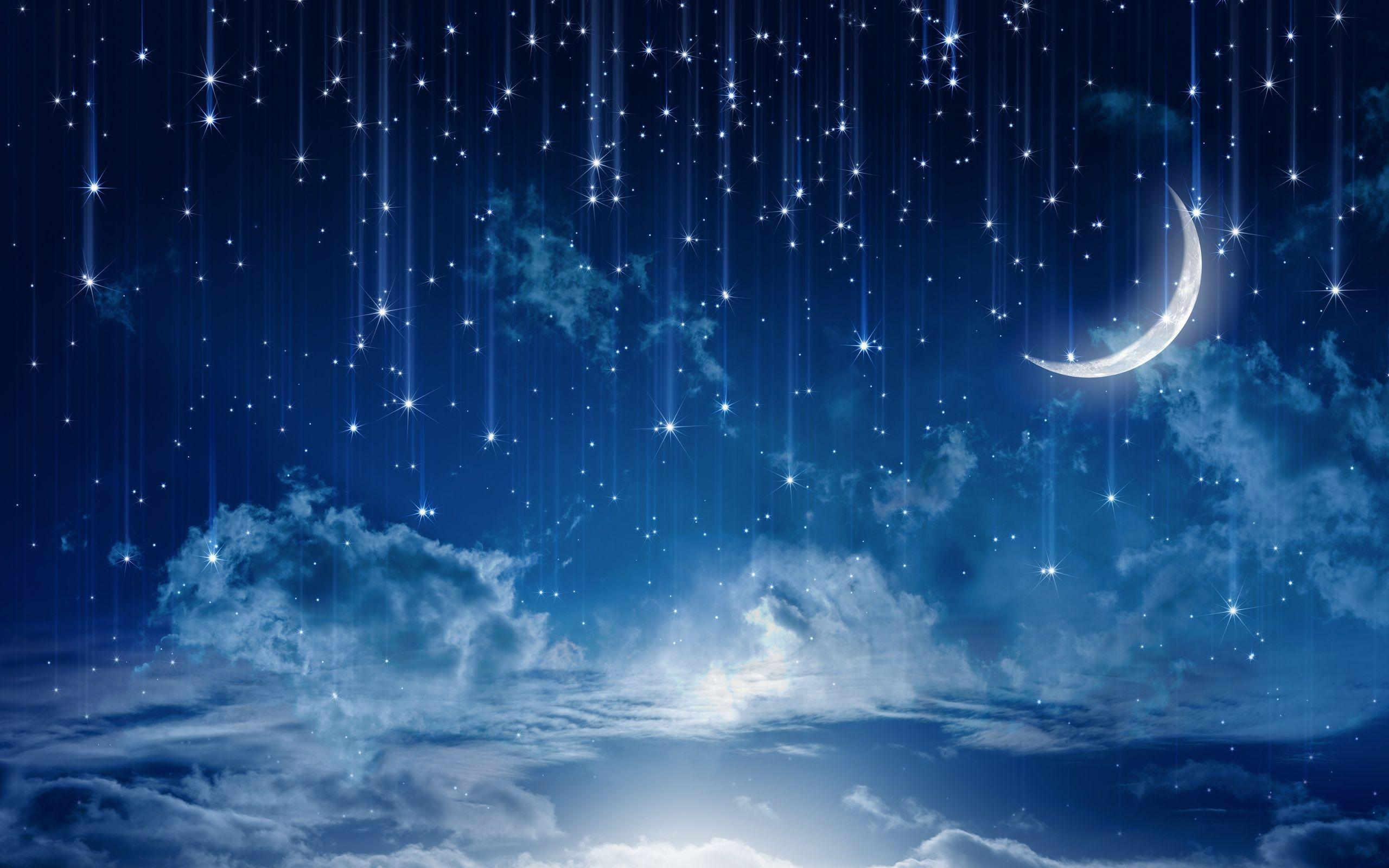 Night sky stars wallpapers wallpaper cave night moon wallpapers full hd wallpaper search voltagebd Images
