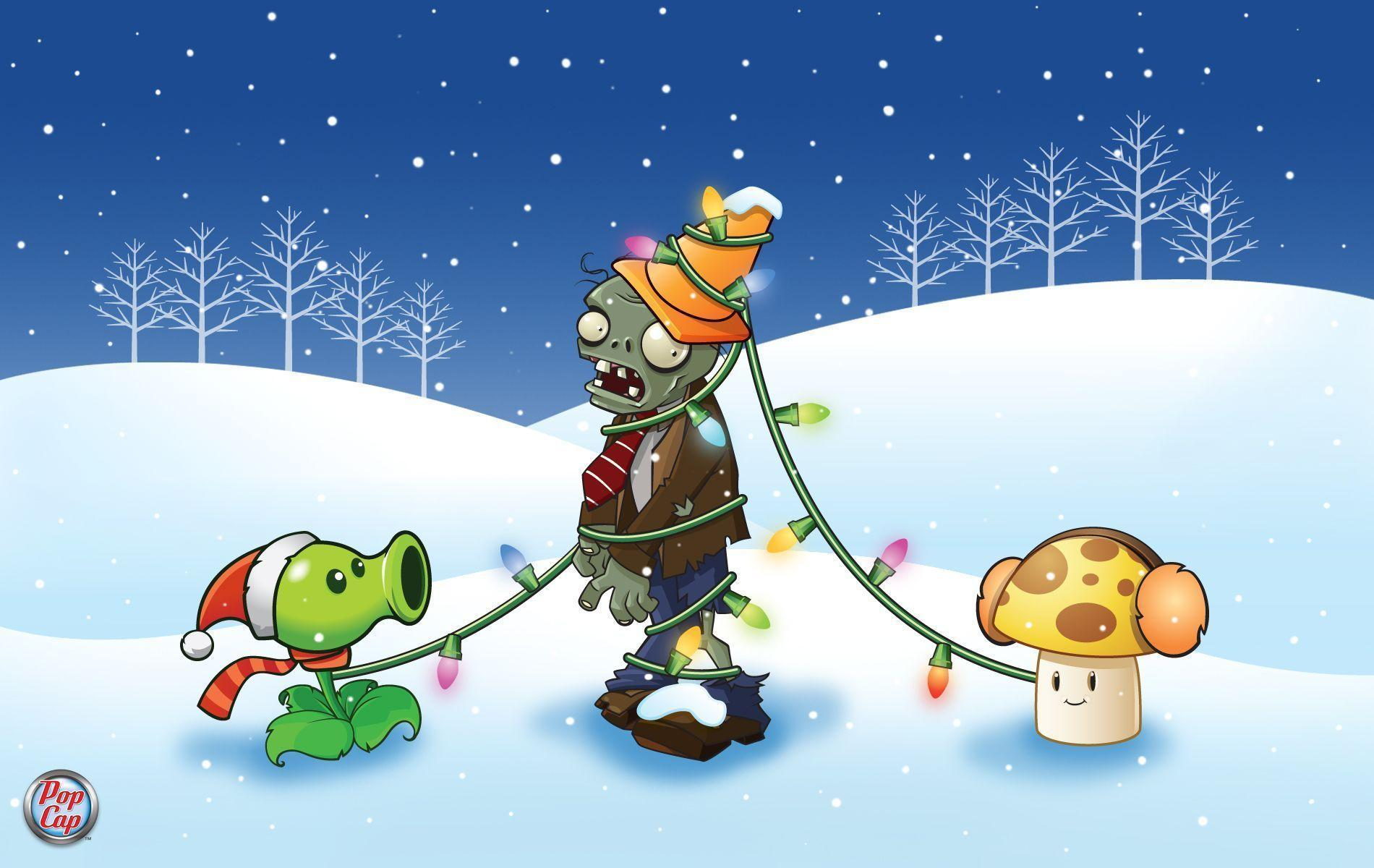 Would you like a Plants vs. Zombies Christmas wallpaper? - Ironhammers