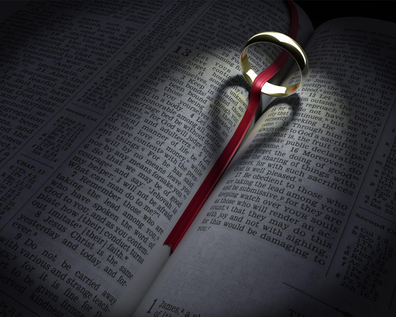 Bible, aliance and heart Wallpapers