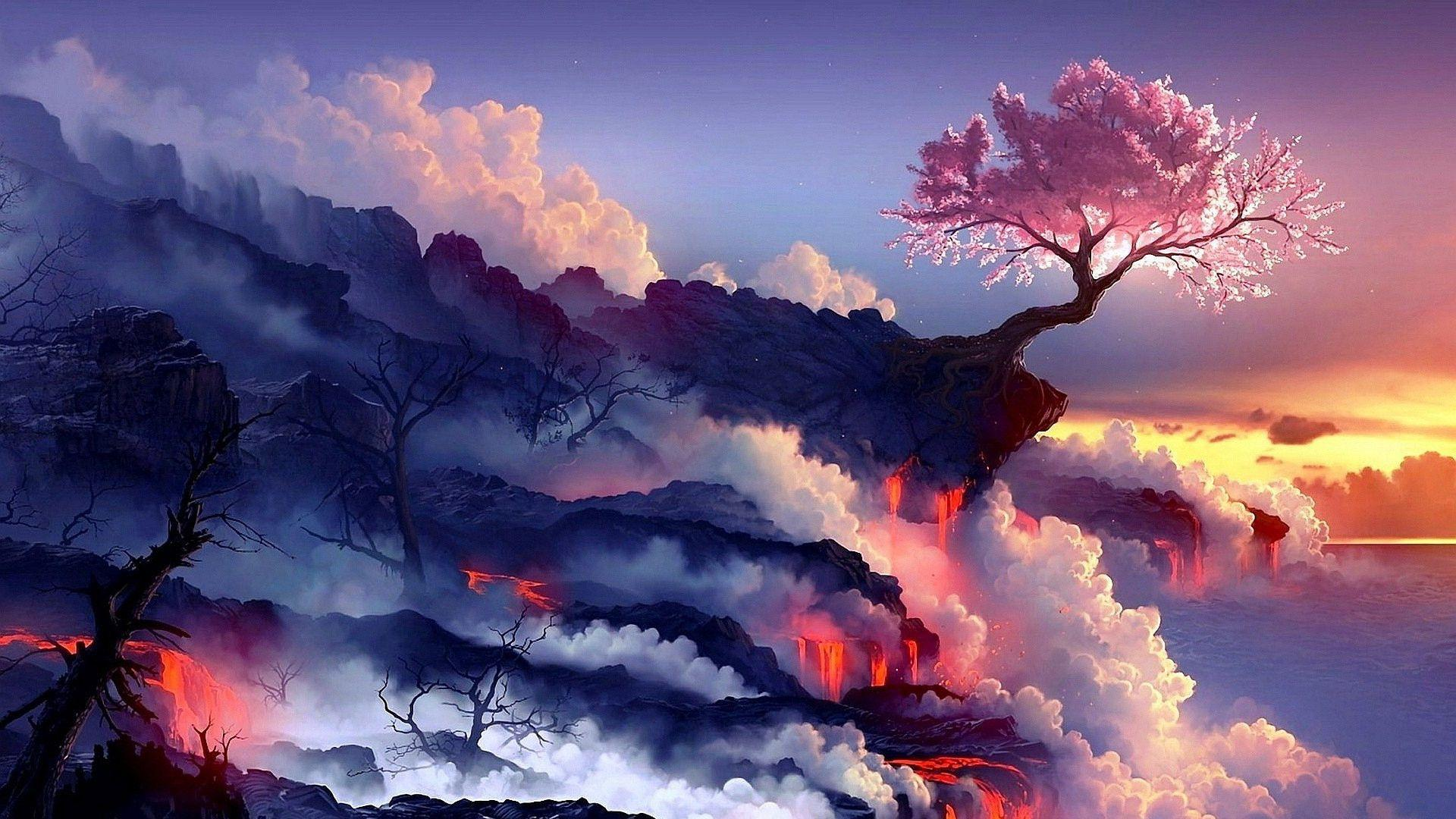 volcano eruption wallpaper hd - photo #22