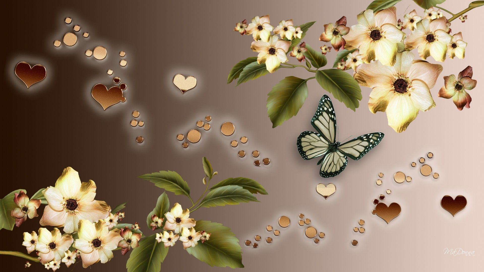 hearts and flowers wallpapers wallpaper cave