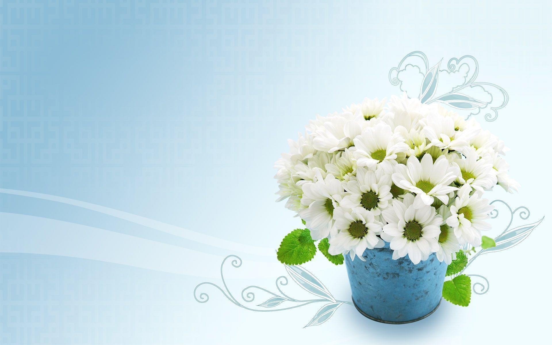 wallpaper flowers bouquet blue - photo #6