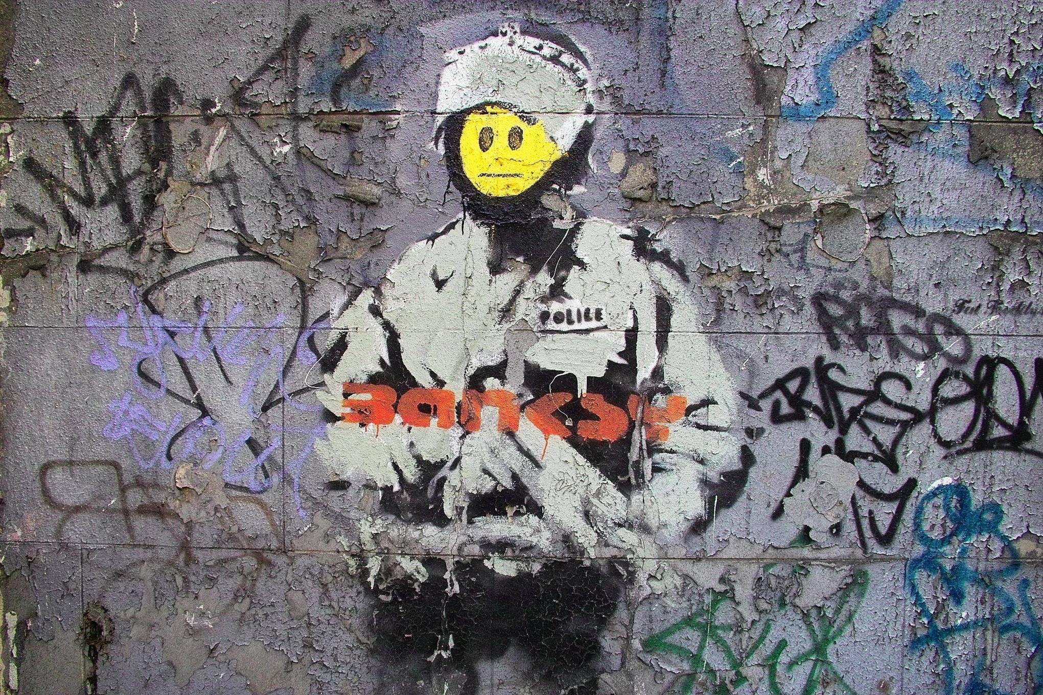 <b>Banksy Wallpaper</b> Murals By WallArt-Direct.co.uk