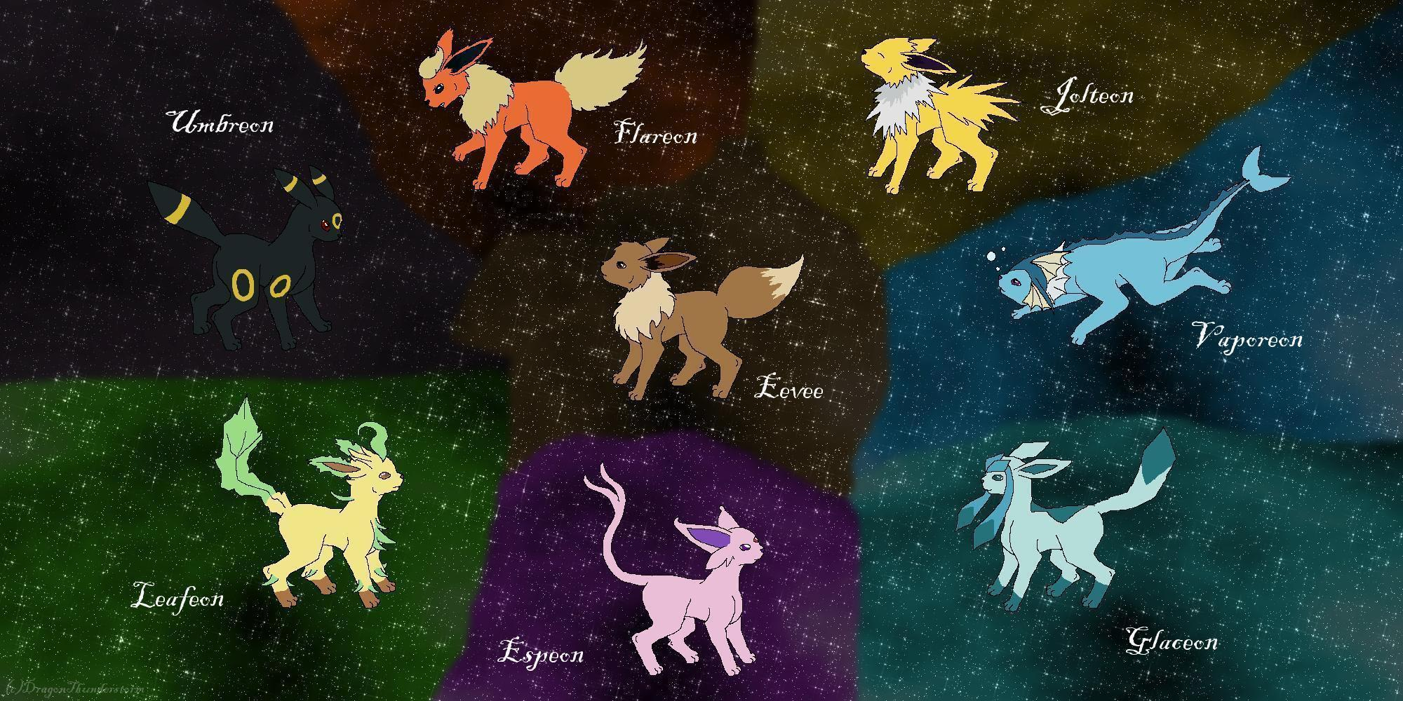 Eevee Evolutions: My style by DragonThunderstorm on DeviantArt