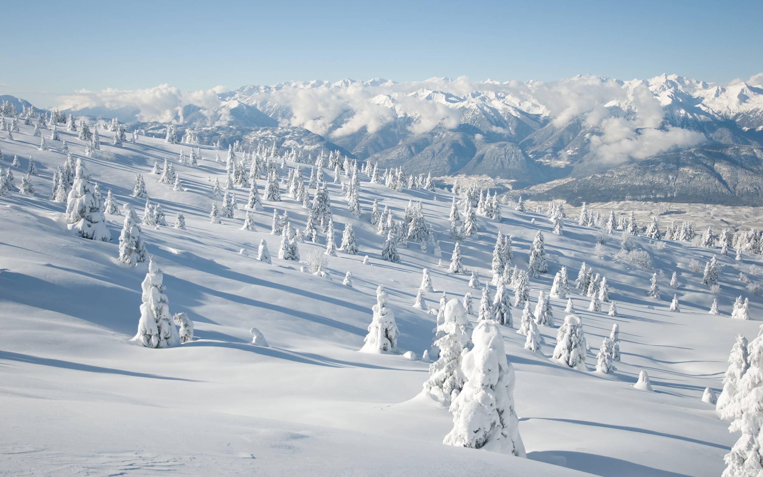 snow landscape backgrounds - photo #32