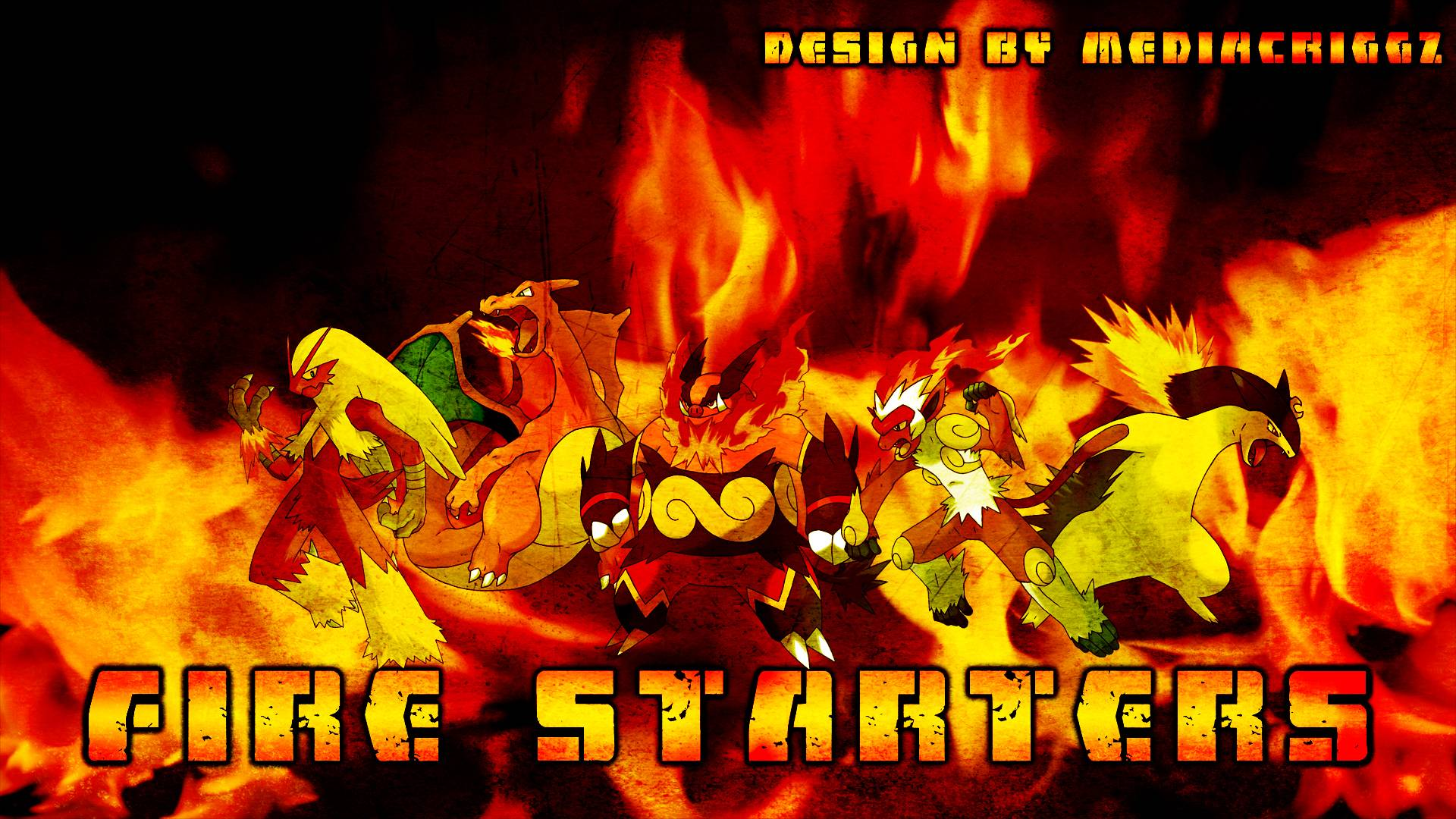 Pokemon Fire Starters Wallpaper By MediaCriggz On DeviantArt