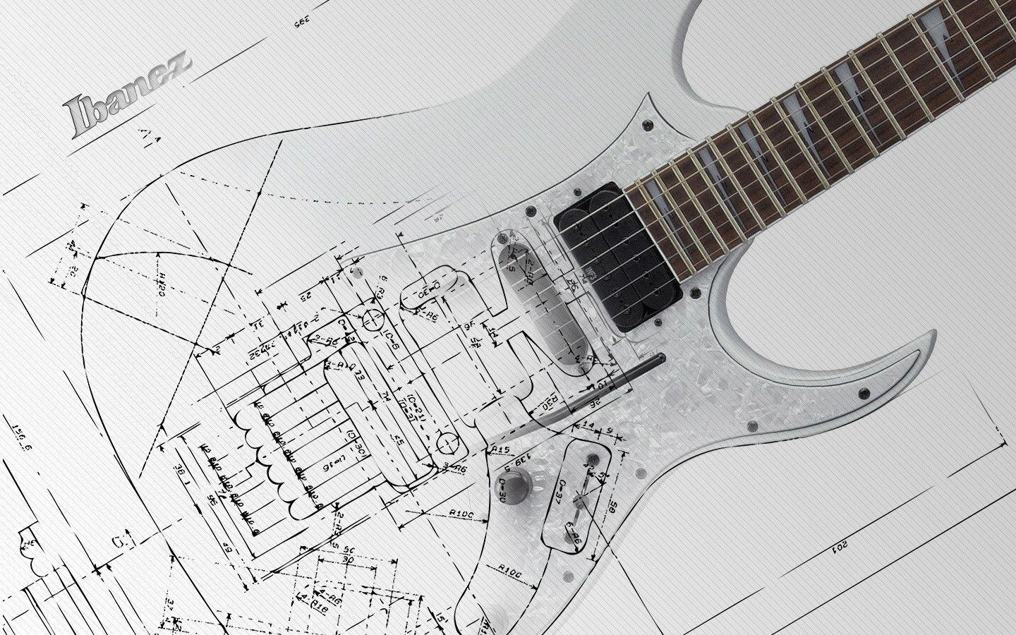 Wallpapers For > Electric Guitar Wallpapers Black And White