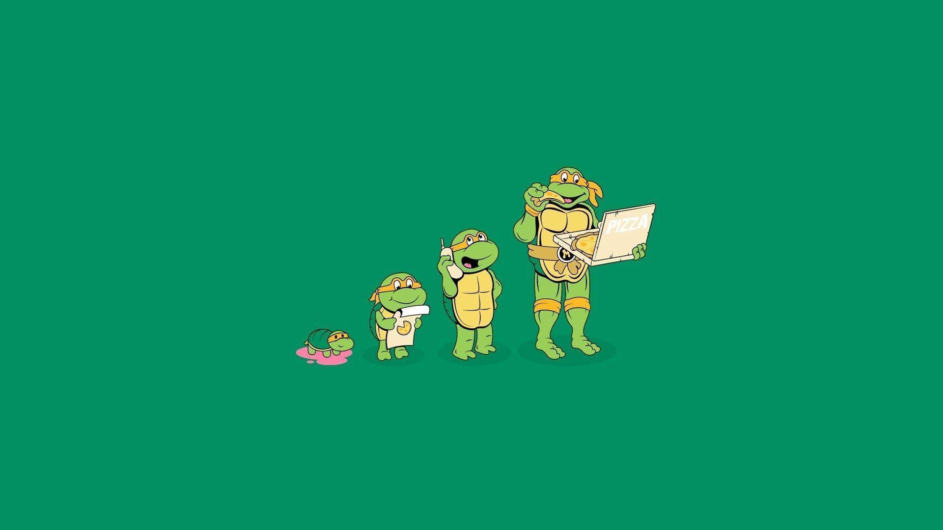 Cartoon Michelangelo Teenage Mutant Ninja Turtles Hd Wallpaper