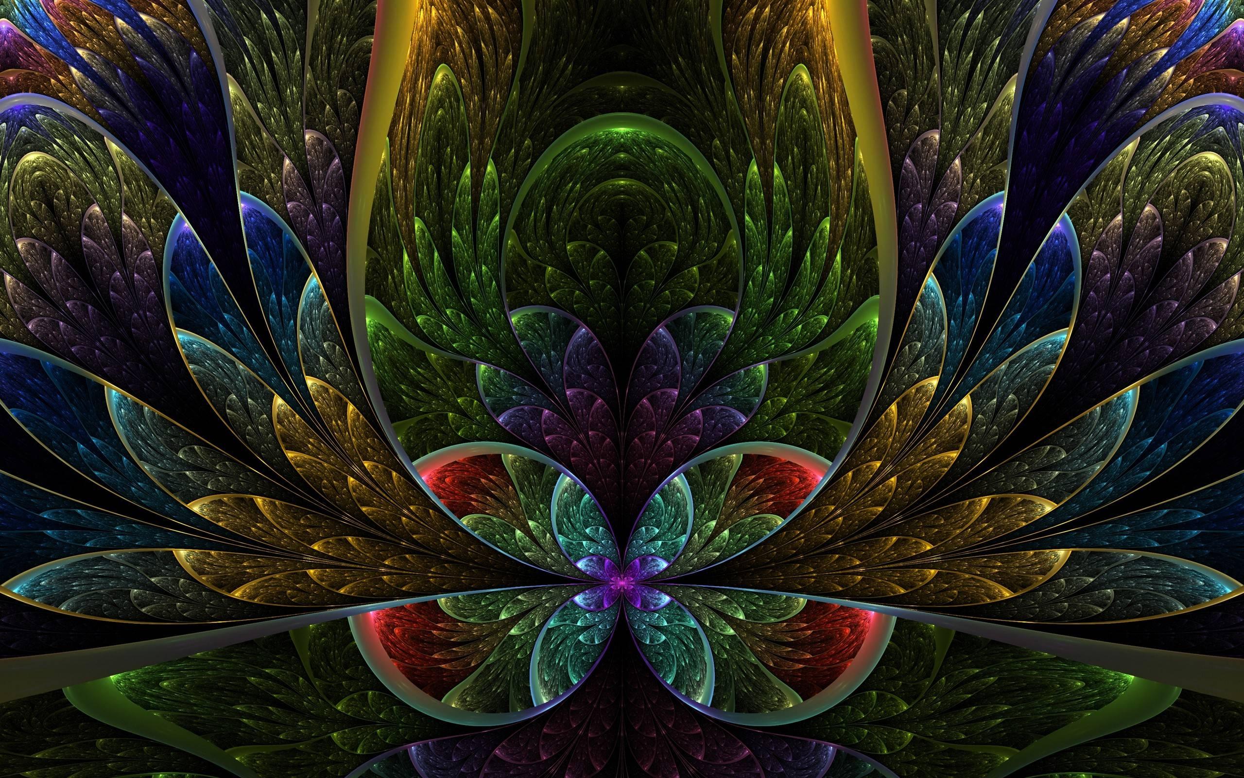 top fractal wallpapers floral - photo #1