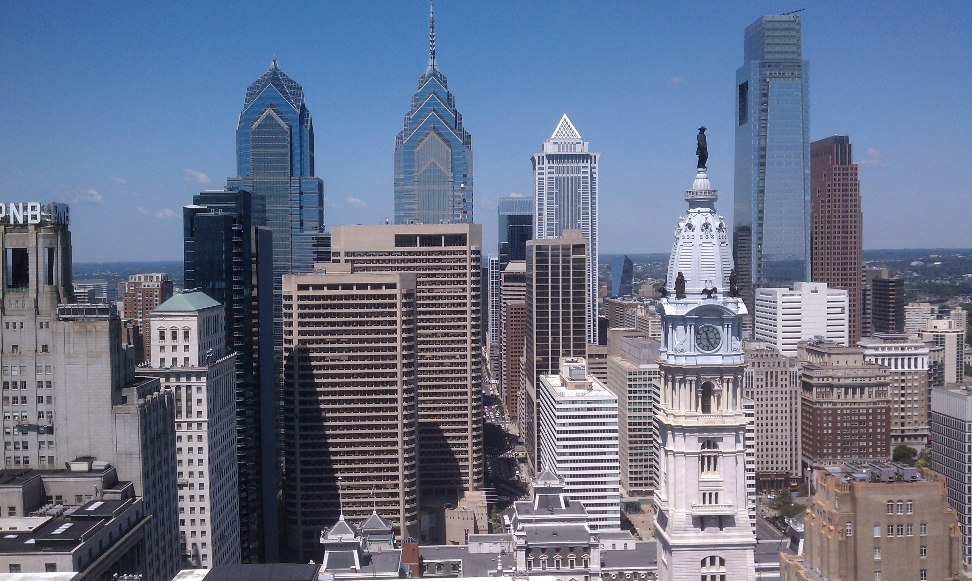 Philadelphia Skyline Usa Ancient Capital World City Hd Wallpapers With