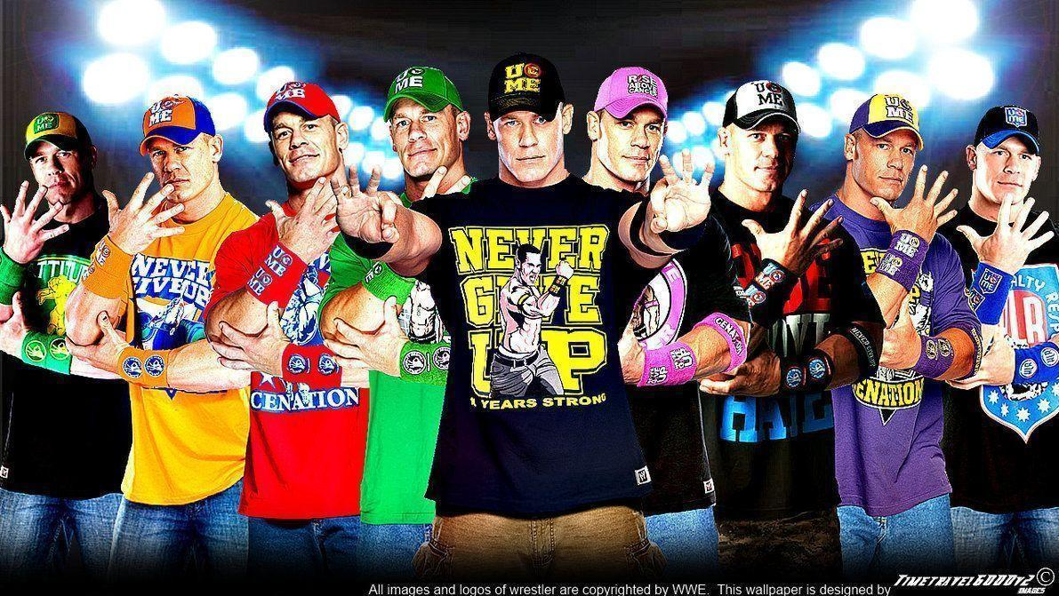 WWE John Cena Multi-Color Wallpaper Widescreen V3 by ...