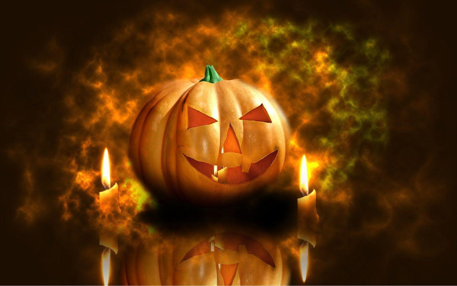 halloween pumpkin candles desktop and Popular Wallpapers 10956