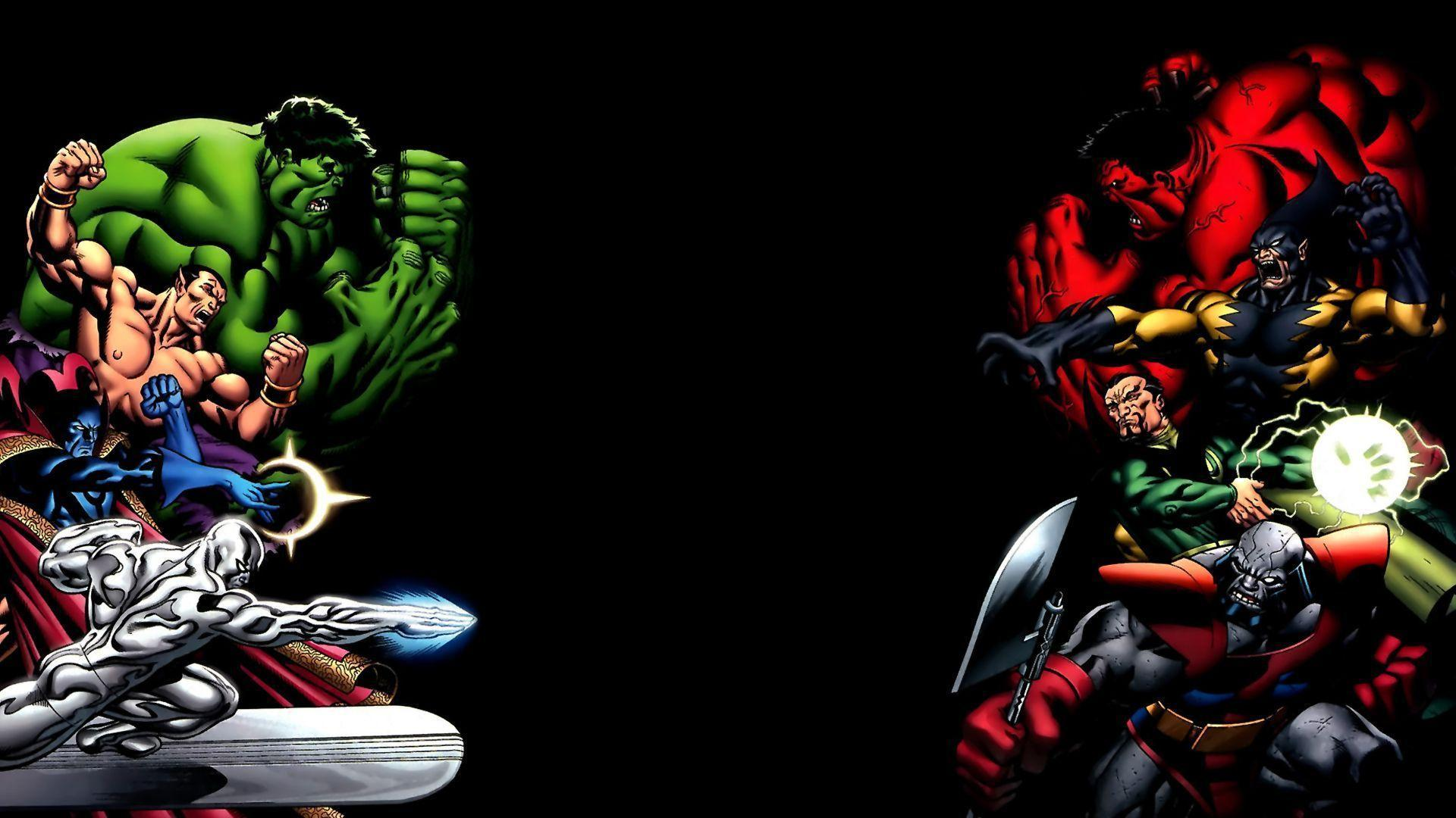 red hulk vs green hulk and Wallpapers 1920x1080