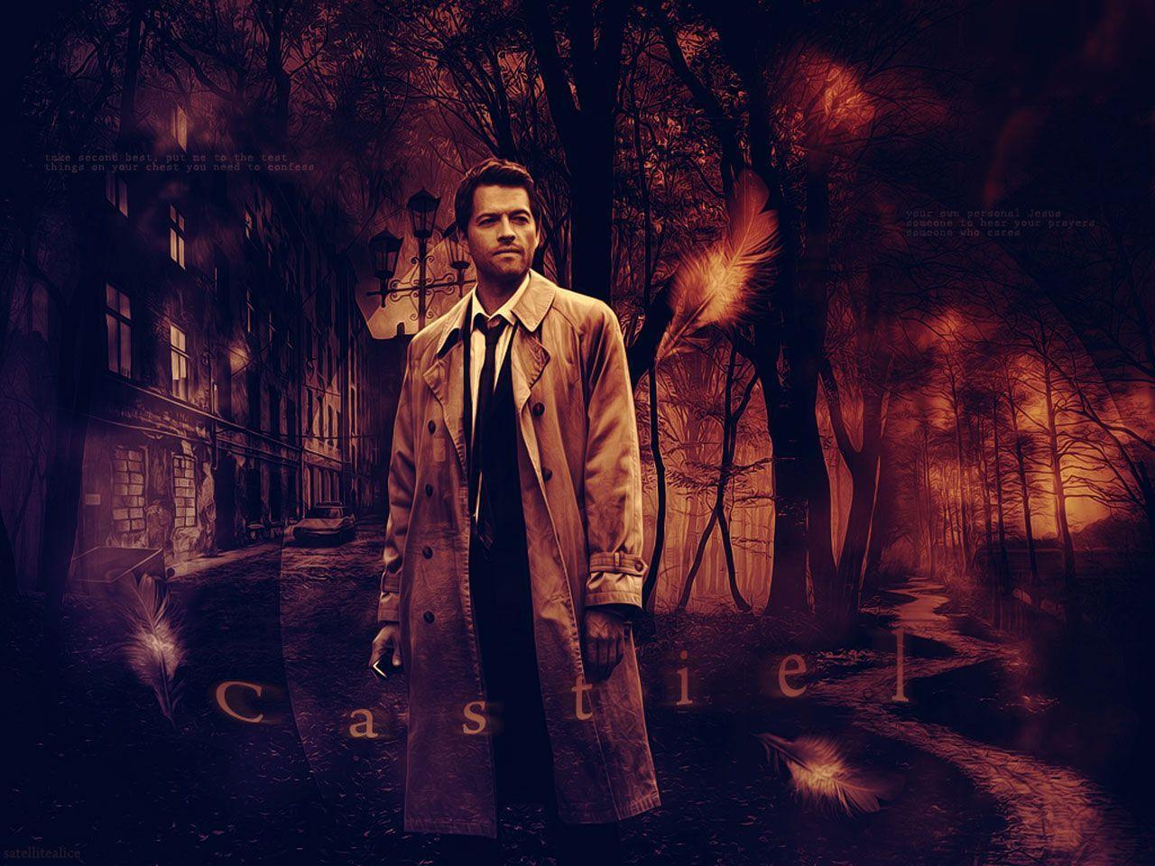 supernatural wallpapers castiel wallpaper cave