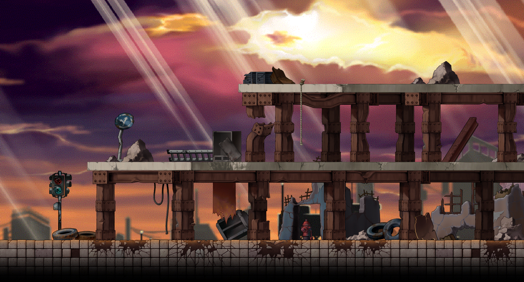 DeviantArt: More Like City Destroyed Backgrounds Test by mastersangji