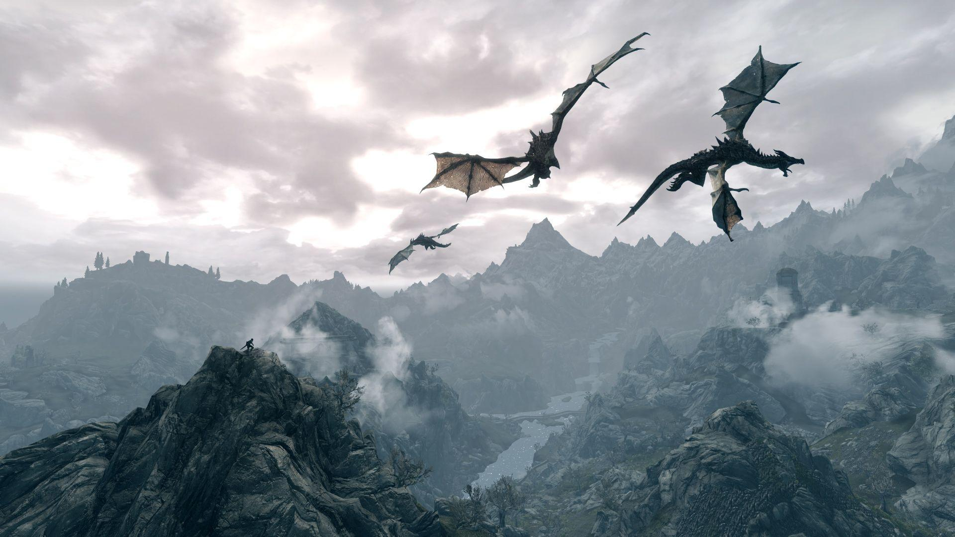 Wallpapers For > Skyrim Dragon Wallpapers Widescreen