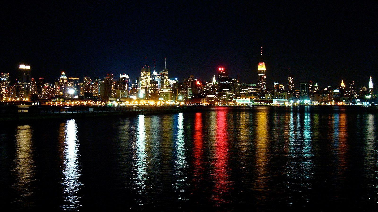 New York City Skyline At Night Wallpaper