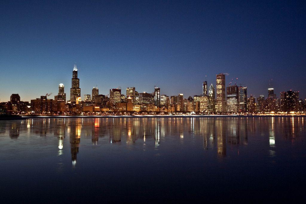 chicago night skyline wallpaper - photo #25