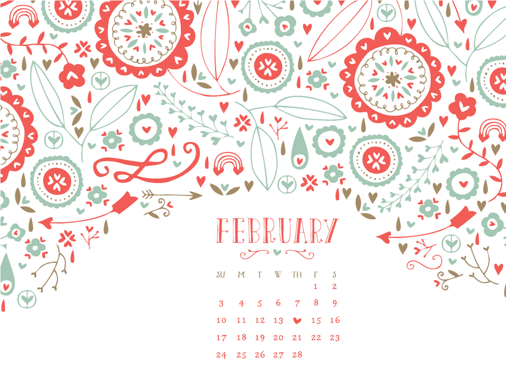 Cute January Calendar Wallpaper : February wallpapers wallpaper cave