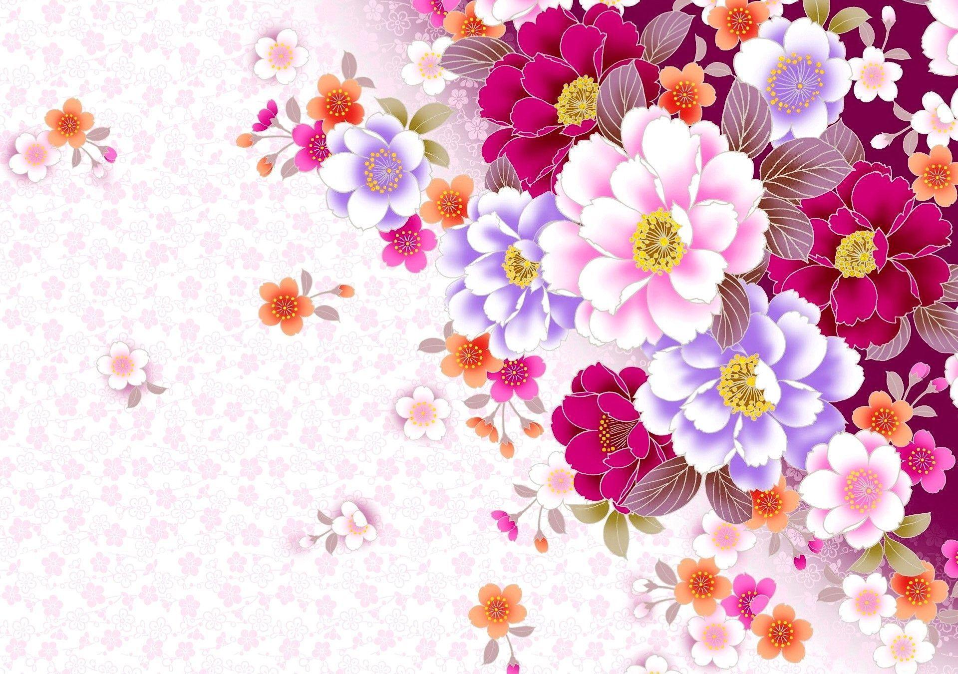 floral desktop backgrounds wallpaper cave