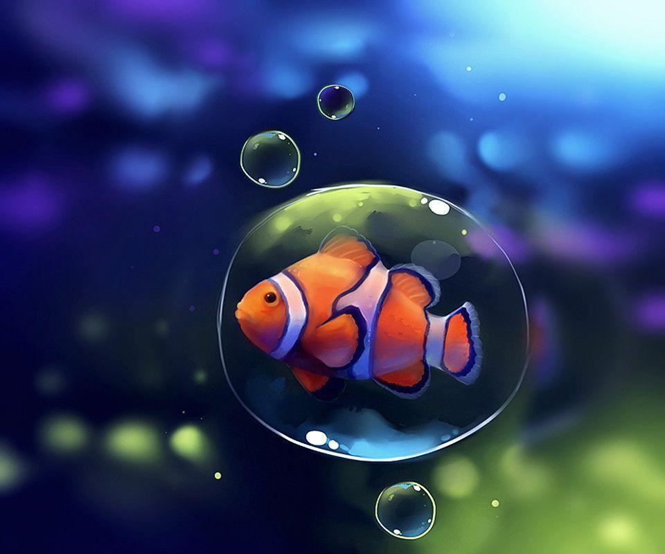 Clown Fish cartoons wallpapers for Samsung Galaxy S3 i9300 16GB