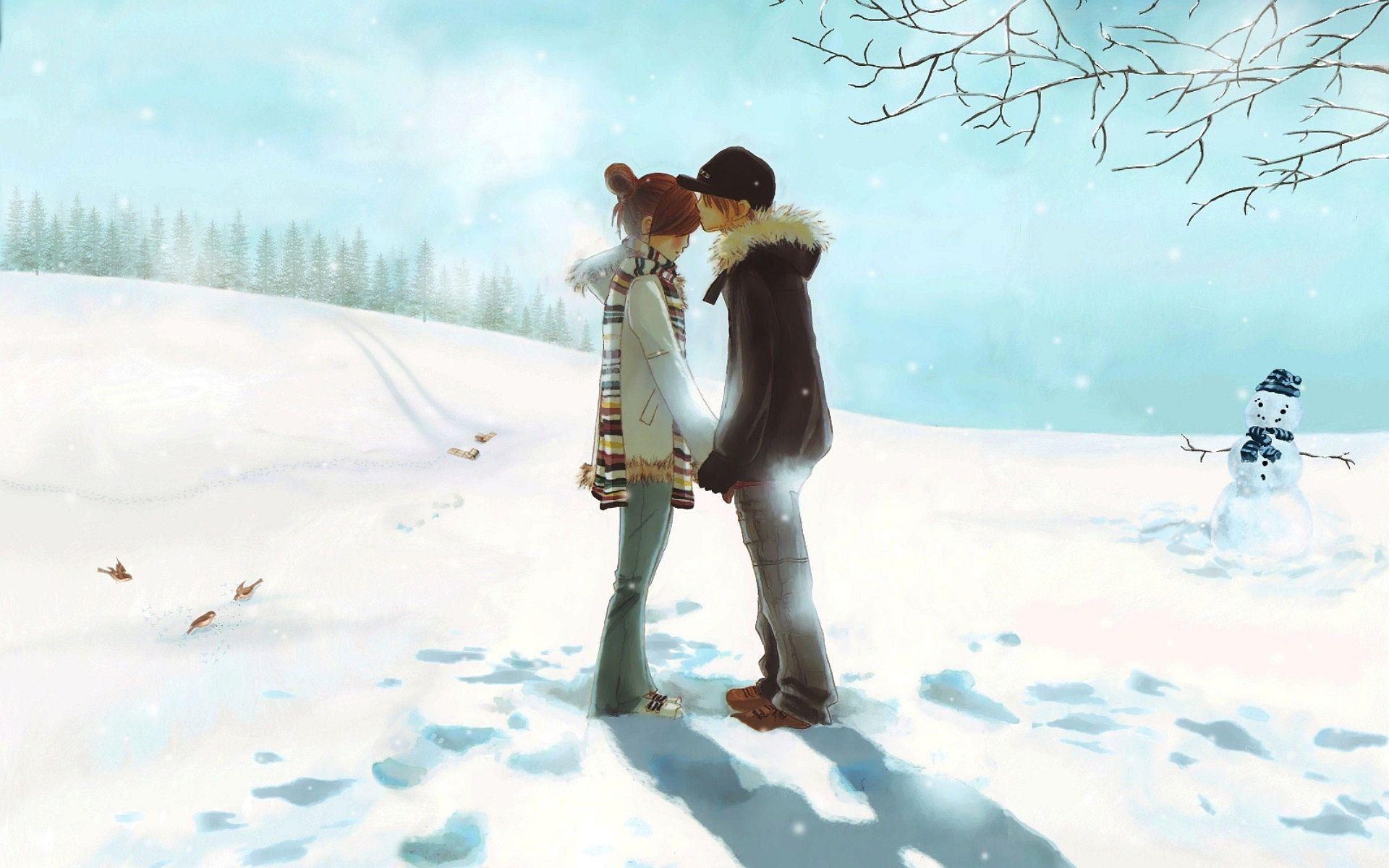 Hd wallpaper love couple - Love Couple Winter Wallpapers Pictures