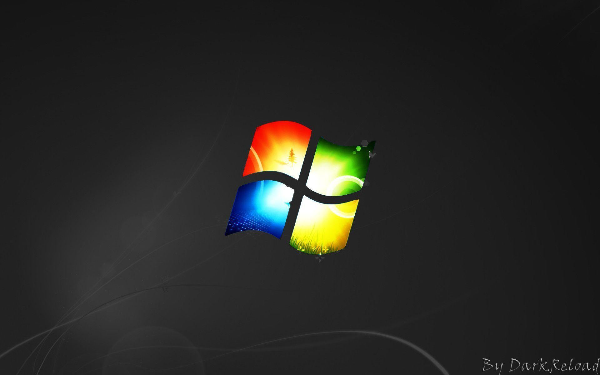 Windows 7 Black Wallpapers Wallpaper Cave