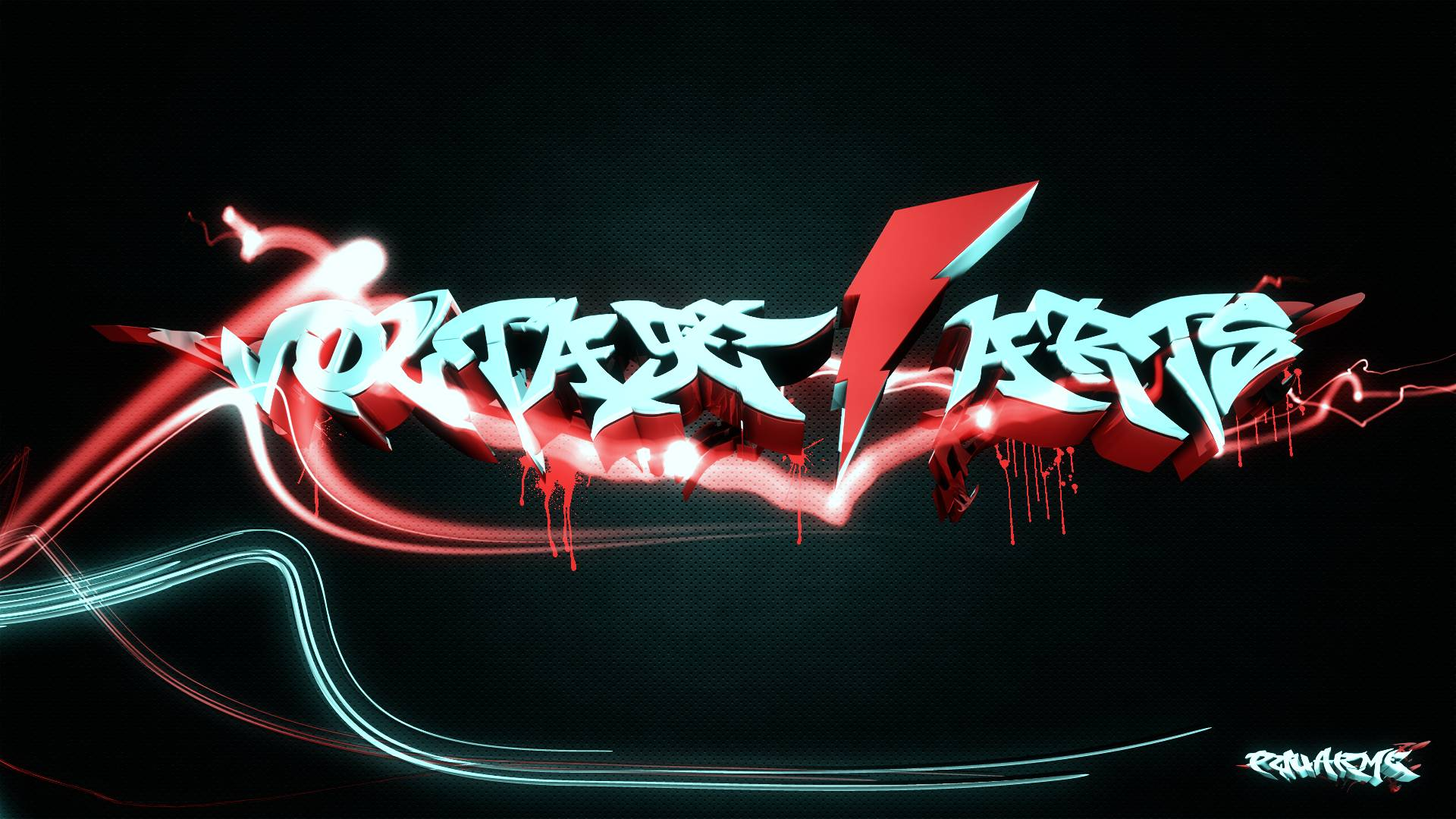 Red graffiti wallpapers wallpaper cave for Fondos tridimensionales