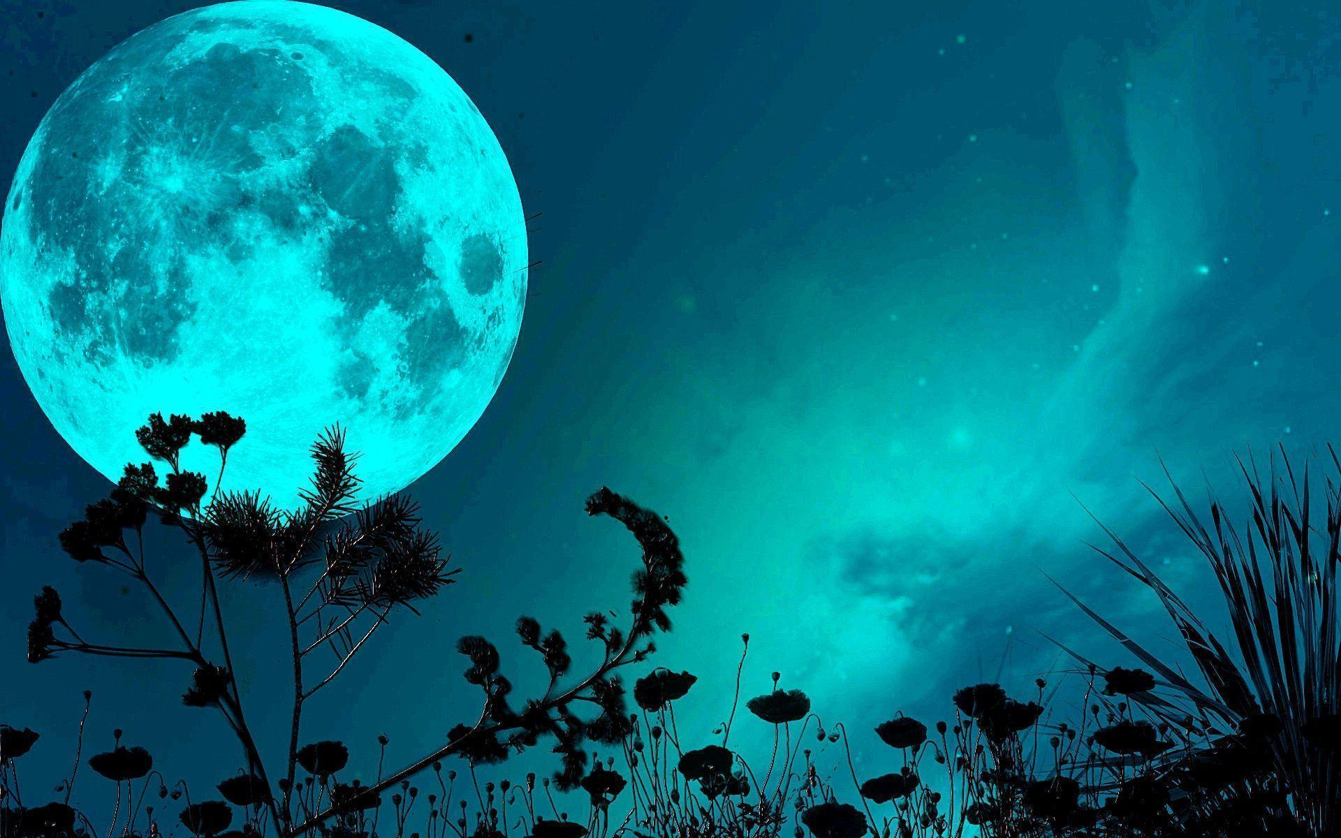blue moon wallpapers wallpaper cave