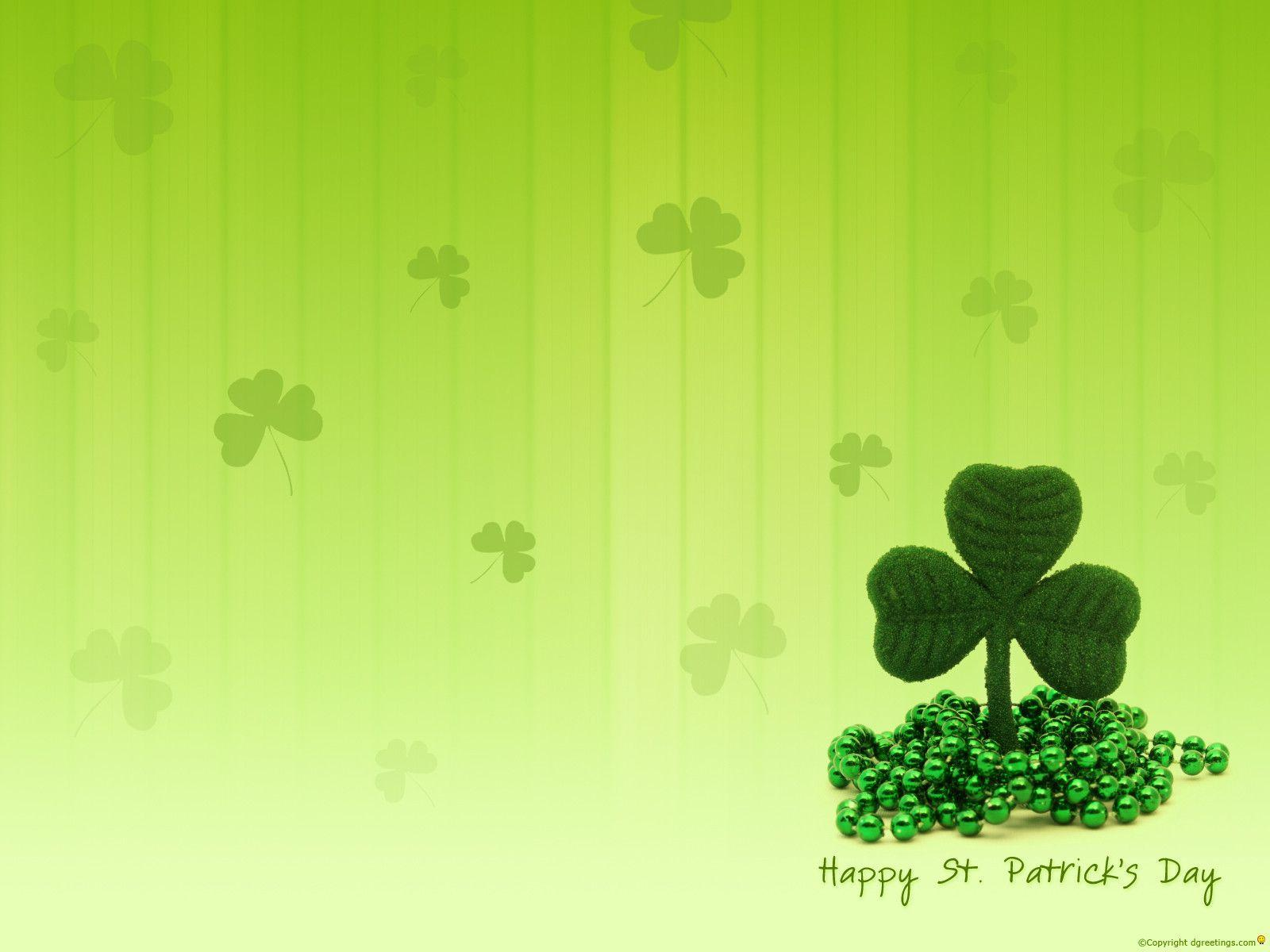 patricks day shamrock background - photo #43